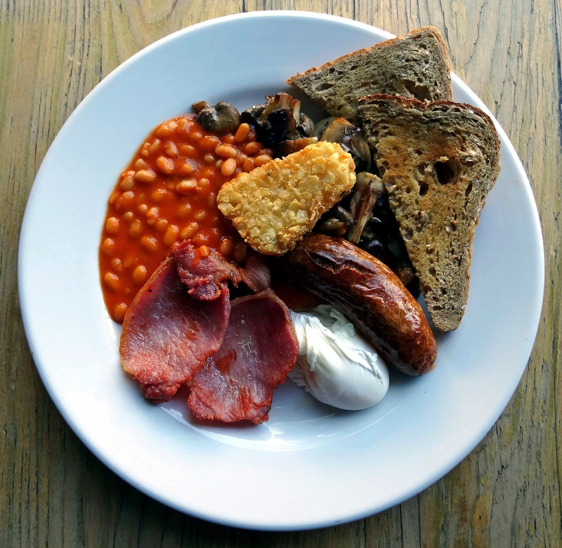 best breakfast north london, the front room cafe, full english breakfast