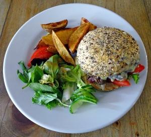 best brunch north london, the front room cafe, gourmet burger