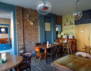 the front room cafe, interiors back room